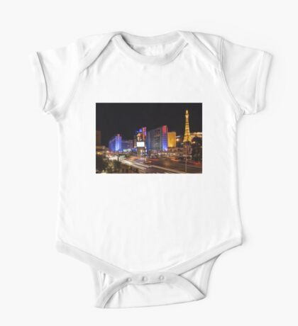 Sparkling Las Vegas Neon - Zooming Along the Strip One Piece - Short Sleeve