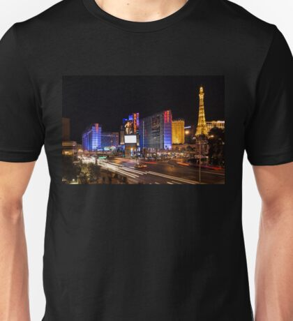 Sparkling Las Vegas Neon - Zooming Along the Strip Unisex T-Shirt