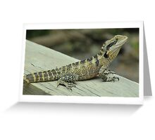 Water Dragon Poser Greeting Card