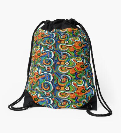 Pop-Art Van Gogh Style Drawstring Bag