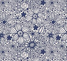 Seamless texture with blue flowers by smotrivnebo