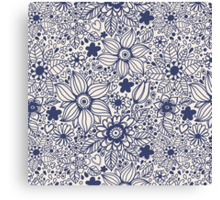 Seamless texture with blue flowers Canvas Print