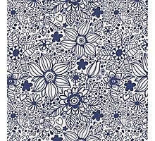 Seamless texture with blue flowers Photographic Print