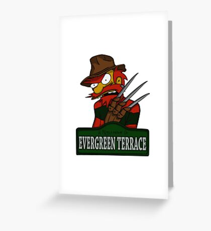 Nightmare on Evergreen Terrace Greeting Card