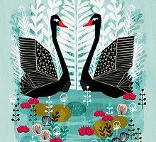 Swans by Andrea Lauren by Andrea Lauren