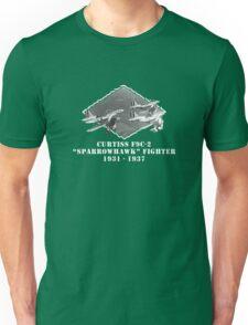 "U.S. Navy - Curtiss F9C-2 ""Sparrowhawk"" Fighter (White) Unisex T-Shirt"