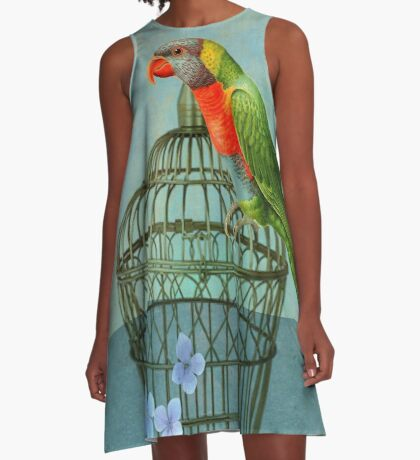 The Parrot A-Line Dress