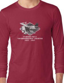 "U.S. Navy - Curtiss F9C-2 ""Sparrowhawk"" Fighter (White) Long Sleeve T-Shirt"