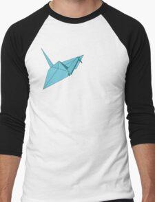 Ooh! A Crane! In Blue! Men's Baseball ¾ T-Shirt