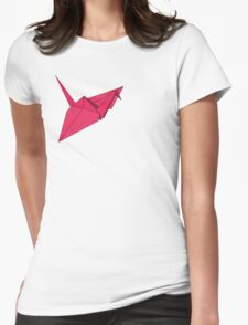 Ooh! A Crane! In Pink! Womens Fitted T-Shirt