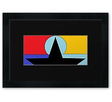 Abstract Boat Framed Print