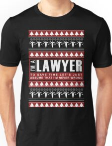 i am lawyer funny christmas Unisex T-Shirt