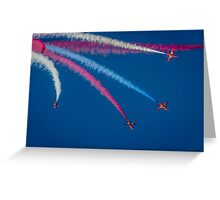 Red Arrows 1,2,3,  Greeting Card