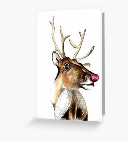 Rudolf the red nosed Reindeer Greeting Card