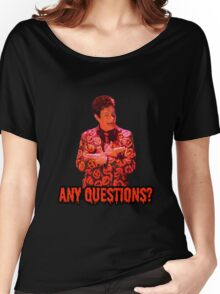 David S. Pumpkins - Any Questions? II - Black Women's Relaxed Fit T-Shirt