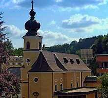 The village church of Helfenberg IV   architectural photography by Patrick Jobst