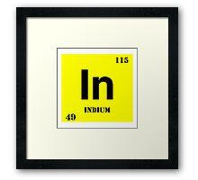 Indium Framed Print