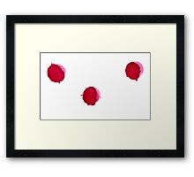 Red Ink Drops Framed Print