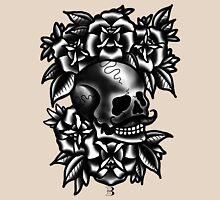 gentlemans skull and roses Unisex T-Shirt