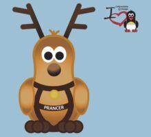 Christmas Penguin - Prancer One Piece - Short Sleeve