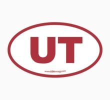 Utah UT Euro Oval RED Kids Clothes
