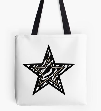 Zebra Star  Tote Bag