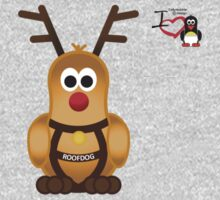 Christmas Penguin - Roofdog (Rudolph) One Piece - Long Sleeve