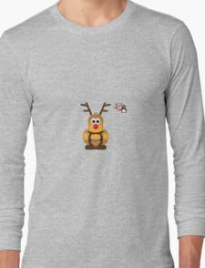Christmas Penguin - Roofdog (Rudolph) Long Sleeve T-Shirt