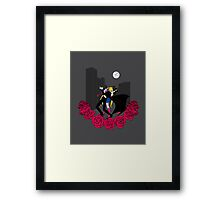 Kissing Sailor Moon Framed Print