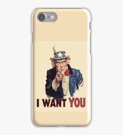 UNCLE SAM, Americana, America, I Want You! Uncle Sam Wants You. Recruitment Poster, USA, iPhone Case/Skin