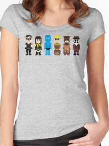 8-Bit Super Heroes 4: The Watch Guys Women's Fitted Scoop T-Shirt