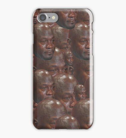 Crying MJ Face Meme iPhone Case/Skin