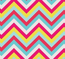 Summer Chevrons by lawleypop
