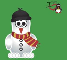 Christmas Penguin - Snowman Kids Tee