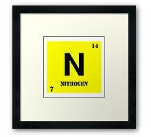 Nitrogen Framed Print