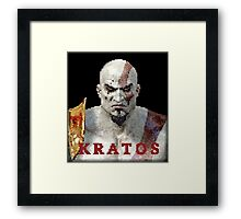 Kratos 8-Bit  Framed Print