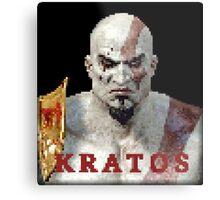 Kratos 8-Bit  Metal Print