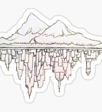 Island Underwater City Sticker