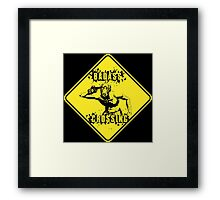 Badass Crossing Framed Print