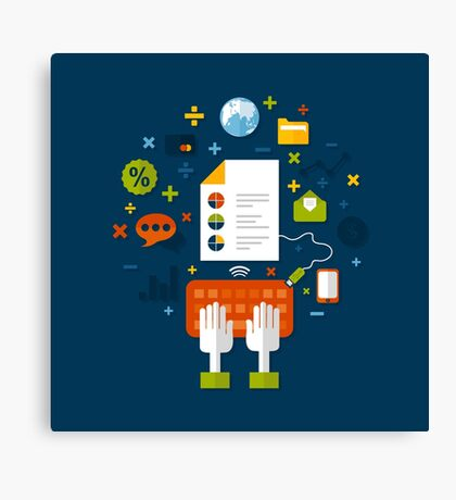 Online business Canvas Print