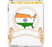 NOT LIVING IN India But Made India iPad Case/Skin