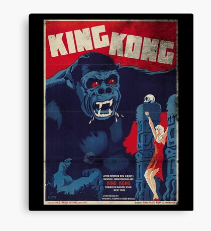 King Kong Vintage Retro Movie Poster Canvas Print