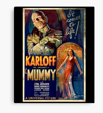 Mummy Boris Karloff Movie Vintage Poster Canvas Print
