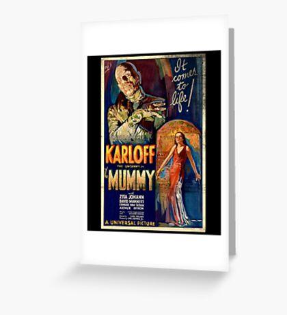 Mummy Boris Karloff Movie Vintage Poster Greeting Card