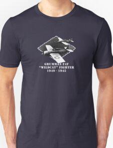 """U.S. Navy - Grumman F4F """"Wildcat"""" Fighter (White) T-Shirt"""