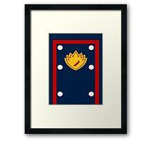 Star Lord Comic Costume Design Framed Print