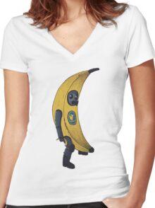 Counter terrorist Banana  Women's Fitted V-Neck T-Shirt