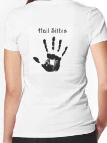 Hail Sithis Women's Fitted V-Neck T-Shirt