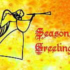 An Angel Seasons Greetings card by Dennis Melling