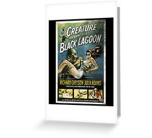 Creature From The Black Lagoon Vintage Poster Greeting Card